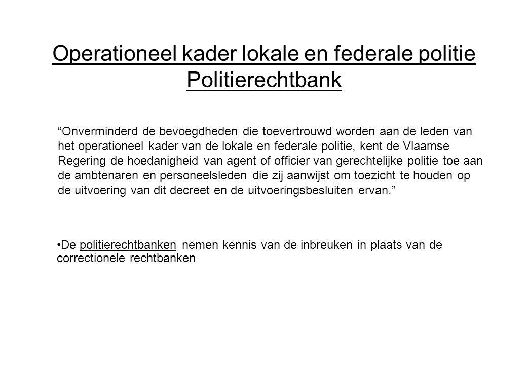 Operationeel kader lokale en federale politie Politierechtbank