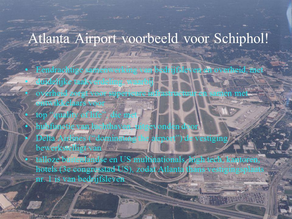 Atlanta Airport voorbeeld voor Schiphol!