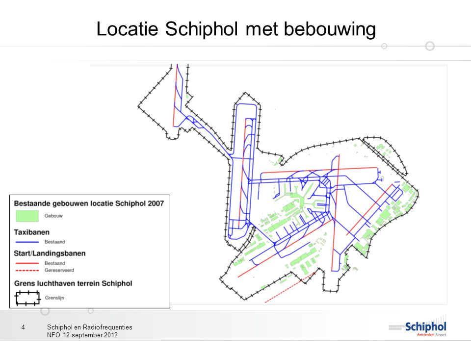 Locatie Schiphol met bebouwing