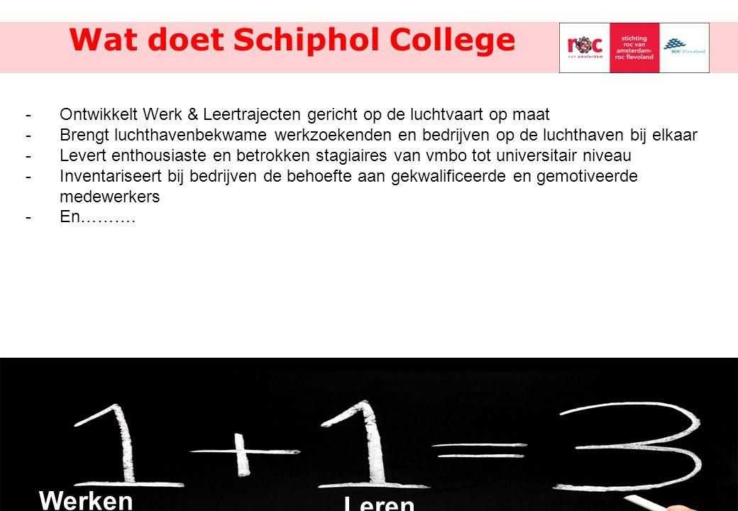 Wat doet Schiphol College