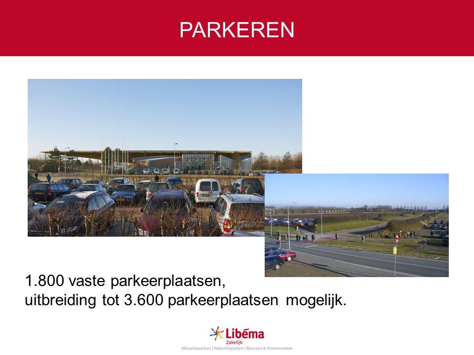 PARKEREN 1.800 vaste parkeerplaatsen,