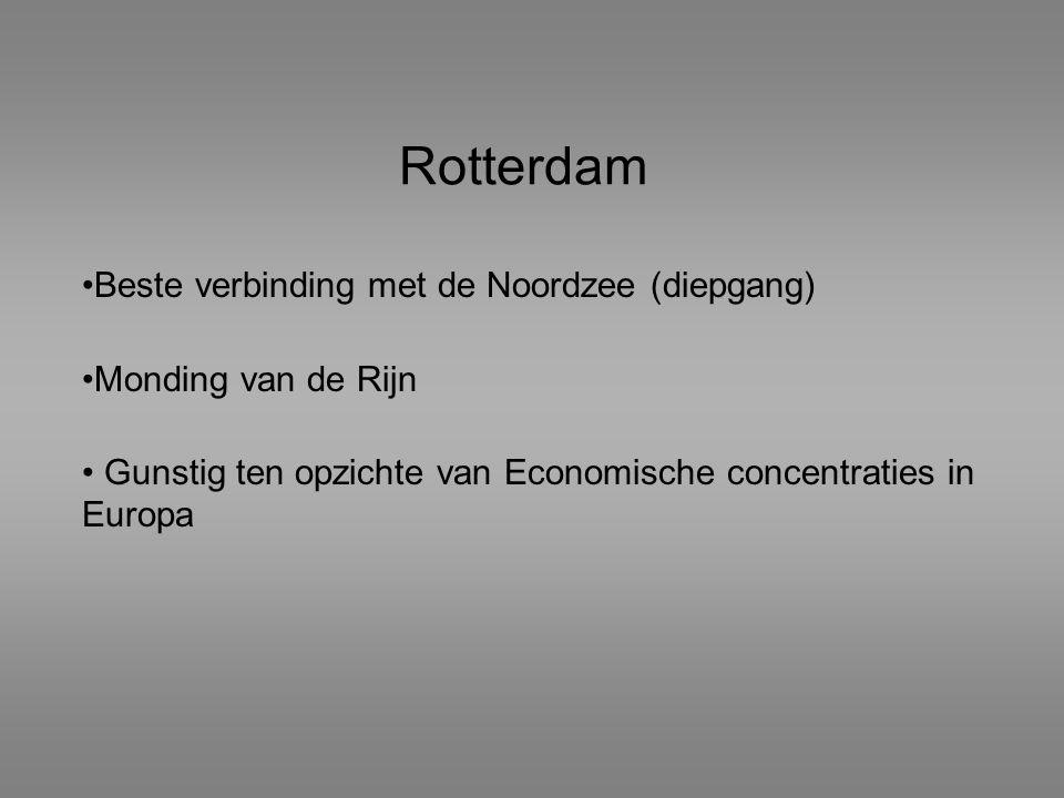 Rotterdam Beste verbinding met de Noordzee (diepgang)