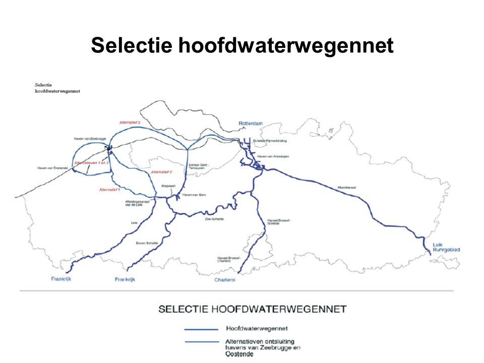 Selectie hoofdwaterwegennet