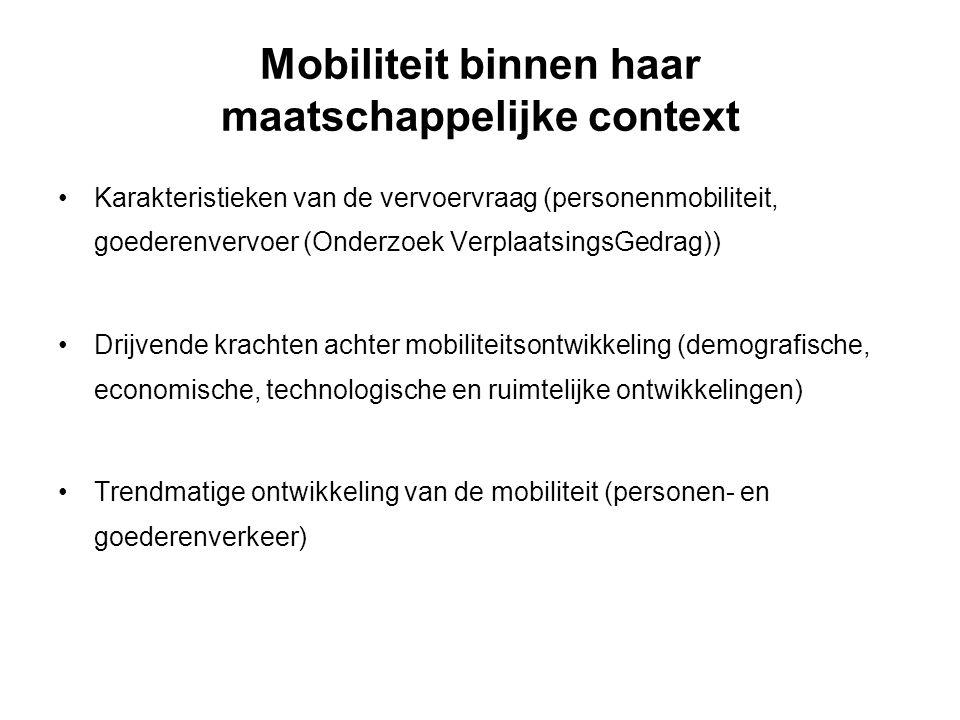 Mobiliteit binnen haar maatschappelijke context