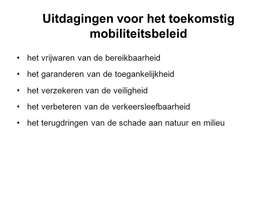 Uitdagingen voor het toekomstig mobiliteitsbeleid