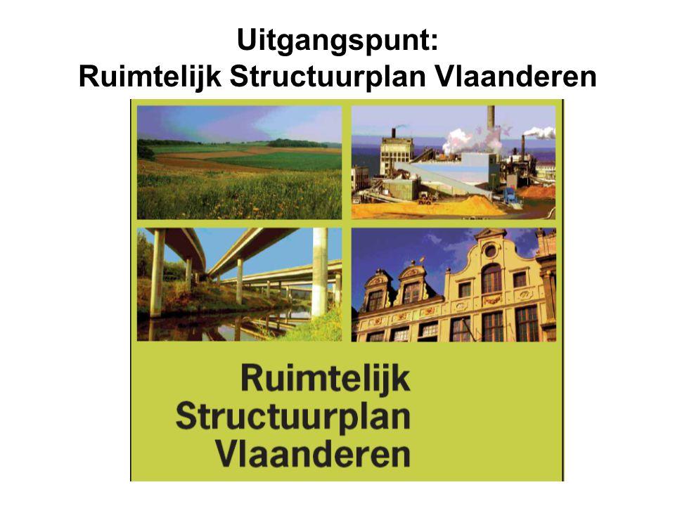 Uitgangspunt: Ruimtelijk Structuurplan Vlaanderen