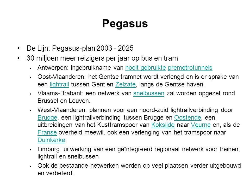 Pegasus De Lijn: Pegasus-plan 2003 - 2025
