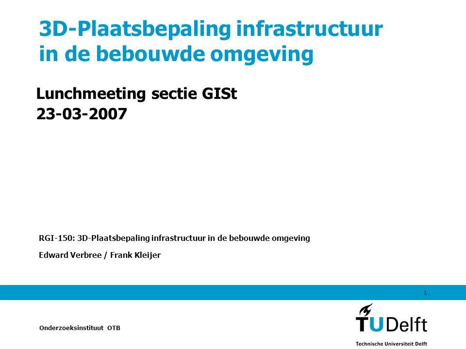 3D-Plaatsbepaling infrastructuur in de bebouwde omgeving