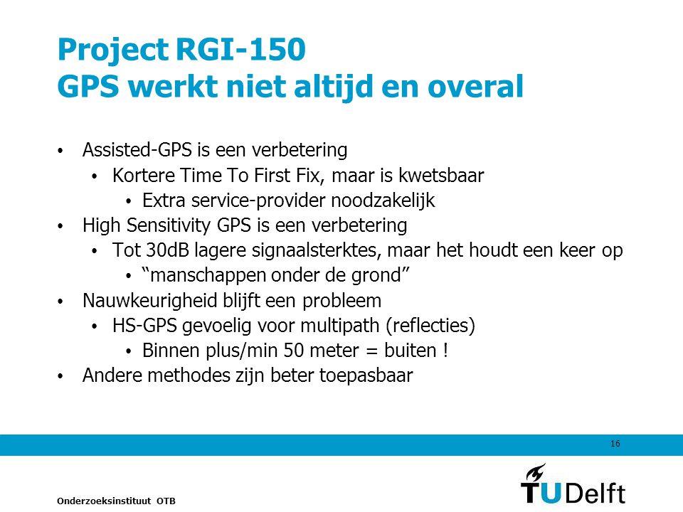 Project RGI-150 GPS werkt niet altijd en overal