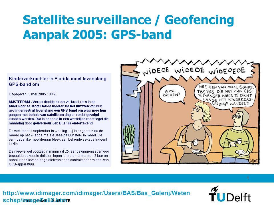 Satellite surveillance / Geofencing Aanpak 2005: GPS-band