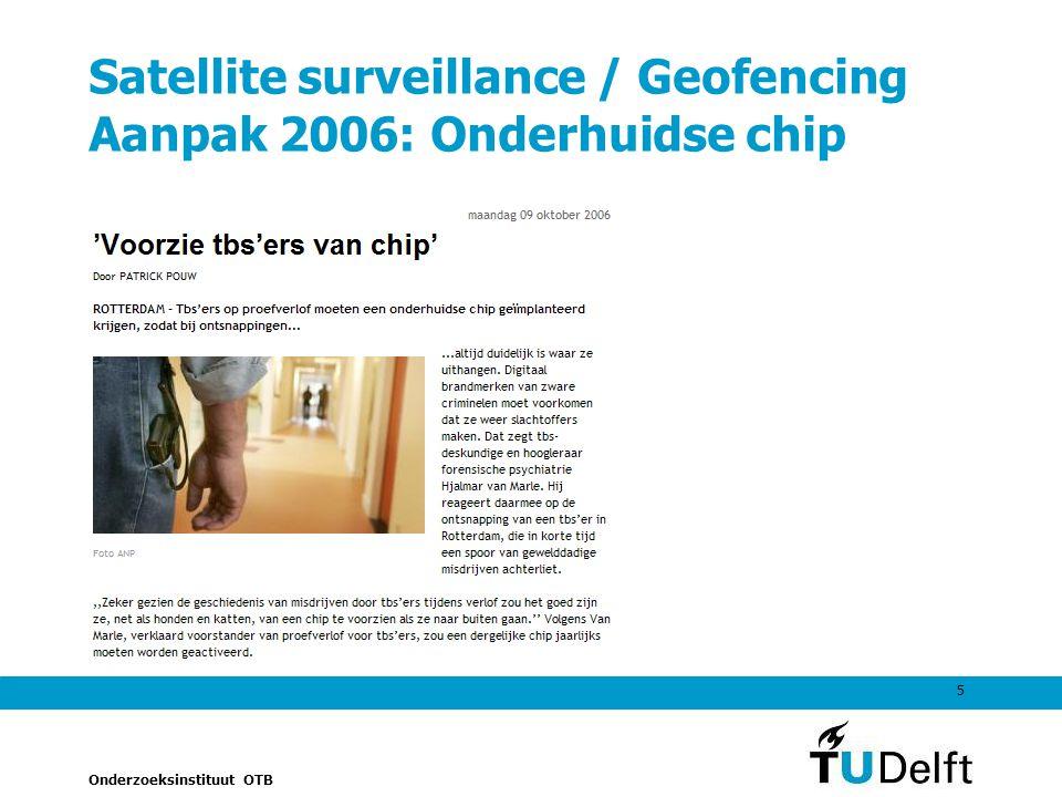 Satellite surveillance / Geofencing Aanpak 2006: Onderhuidse chip