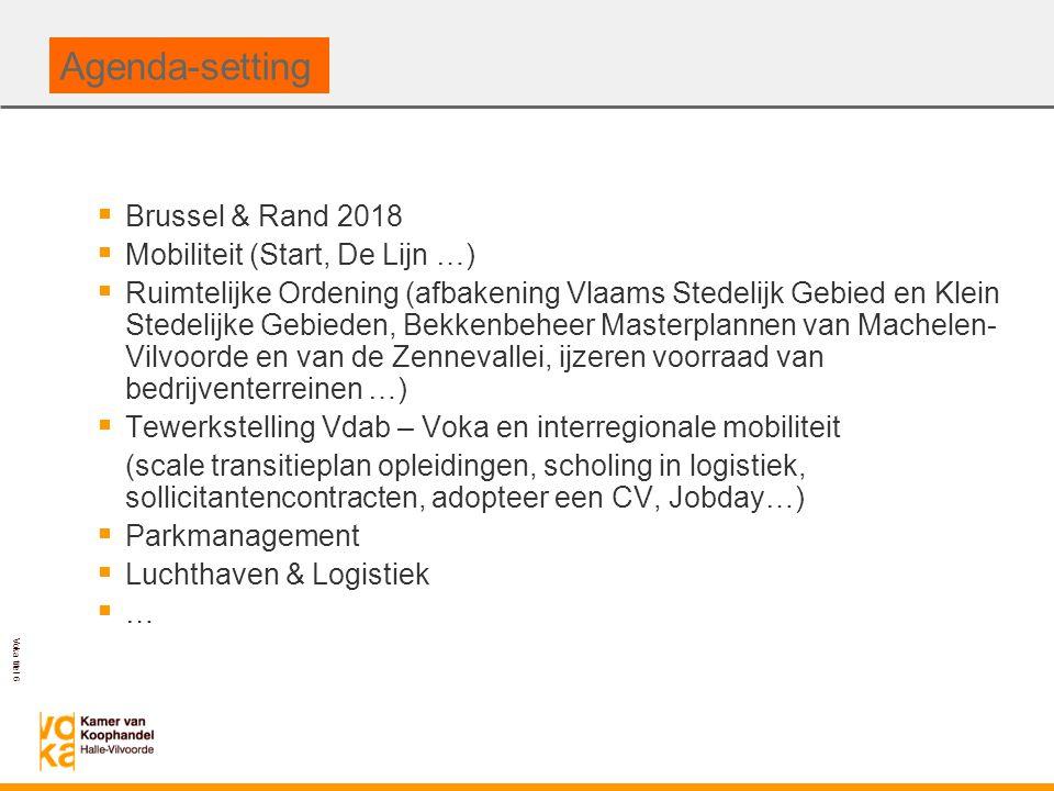 Agenda-setting Brussel & Rand 2018 Mobiliteit (Start, De Lijn …)