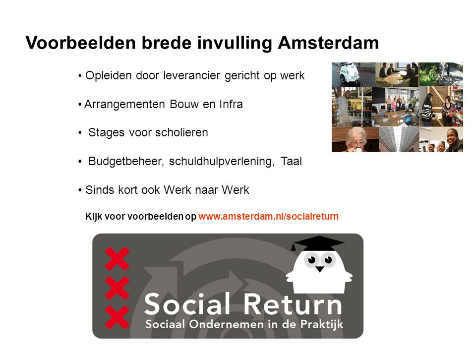 Voorbeelden brede invulling Amsterdam