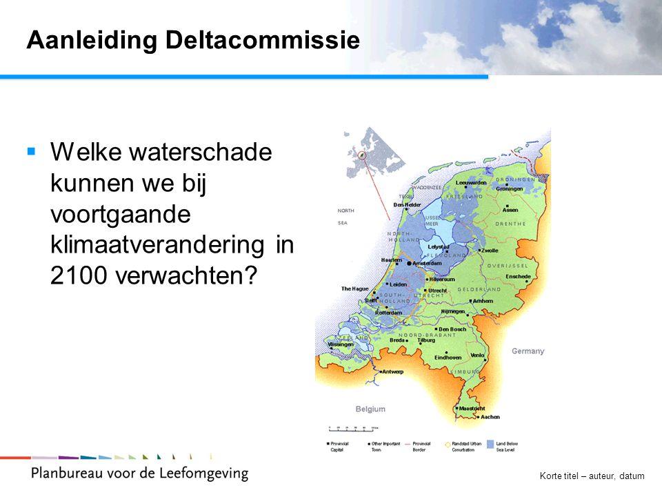 Aanleiding Deltacommissie