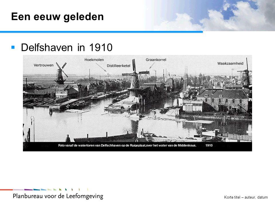 Een eeuw geleden Delfshaven in 1910 Korte titel – auteur, datum