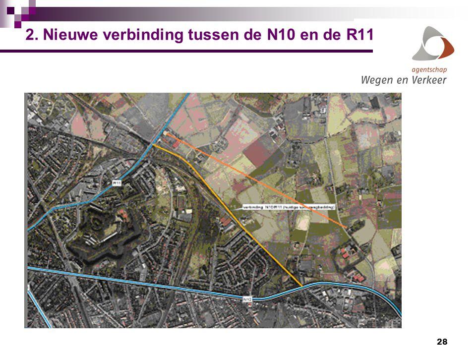 2. Nieuwe verbinding tussen de N10 en de R11