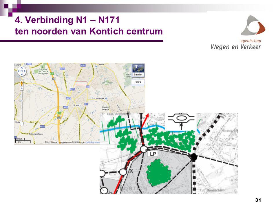 4. Verbinding N1 – N171 ten noorden van Kontich centrum