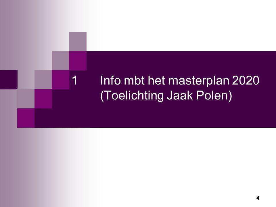 1 Info mbt het masterplan 2020 (Toelichting Jaak Polen)