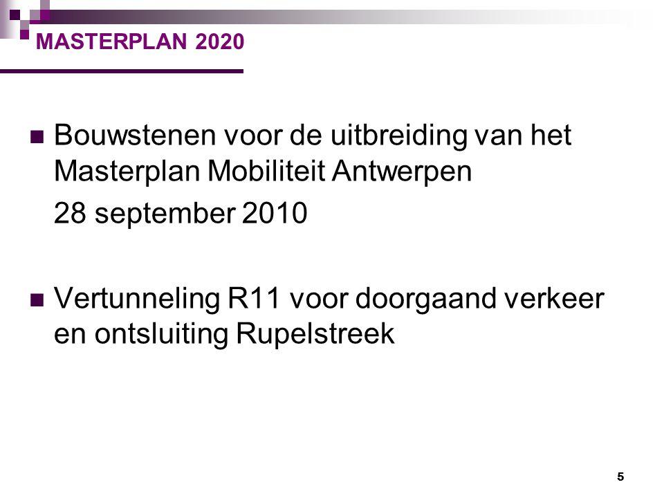 Bouwstenen voor de uitbreiding van het Masterplan Mobiliteit Antwerpen