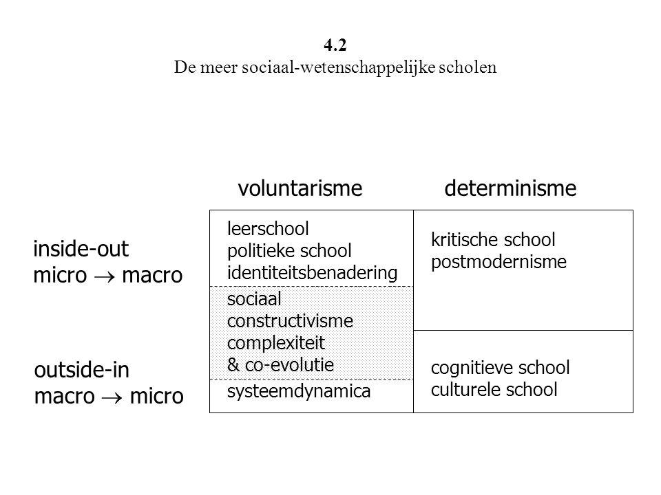 4.2 De meer sociaal-wetenschappelijke scholen