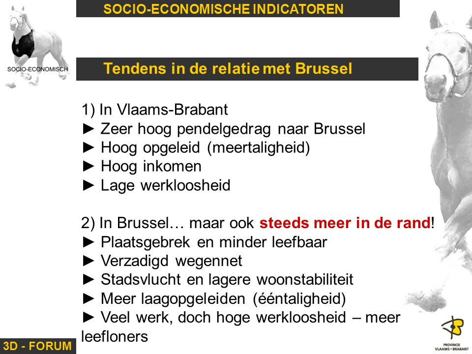 Tendens in de relatie met Brussel