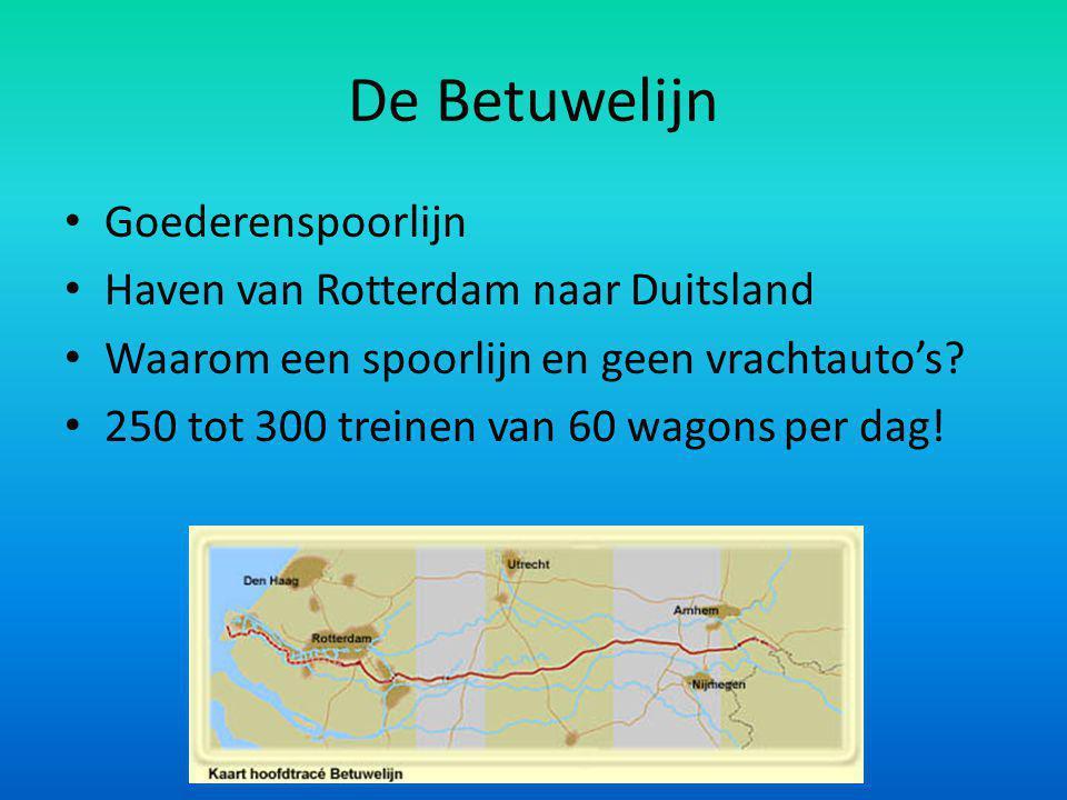 De Betuwelijn Goederenspoorlijn Haven van Rotterdam naar Duitsland