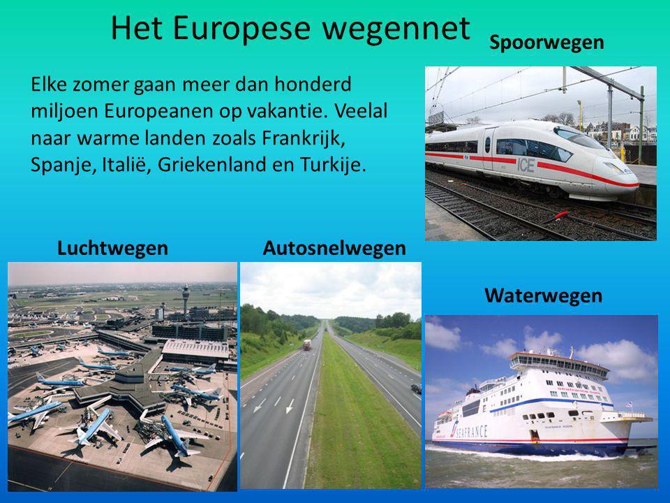 Het Europese wegennet Spoorwegen