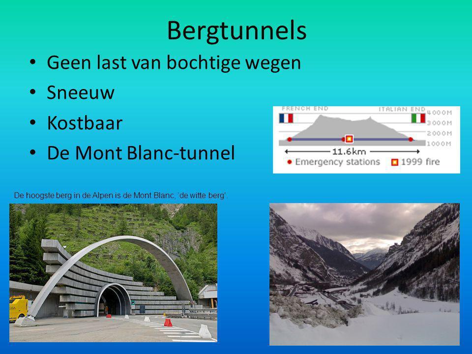 Bergtunnels Geen last van bochtige wegen Sneeuw Kostbaar