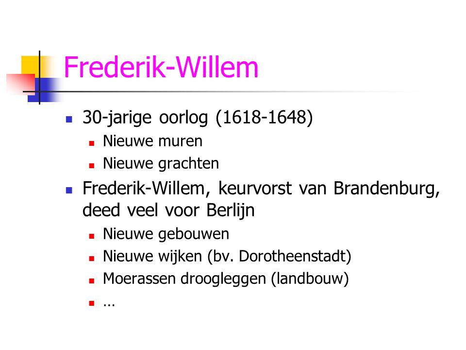 Frederik-Willem 30-jarige oorlog (1618-1648)