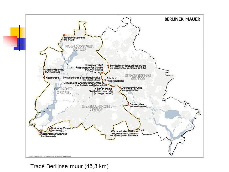 Tracé Berlijnse muur (45,3 km)