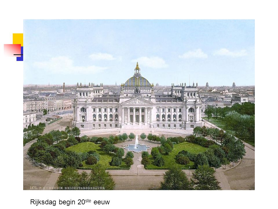 Rijksdag begin 20ste eeuw