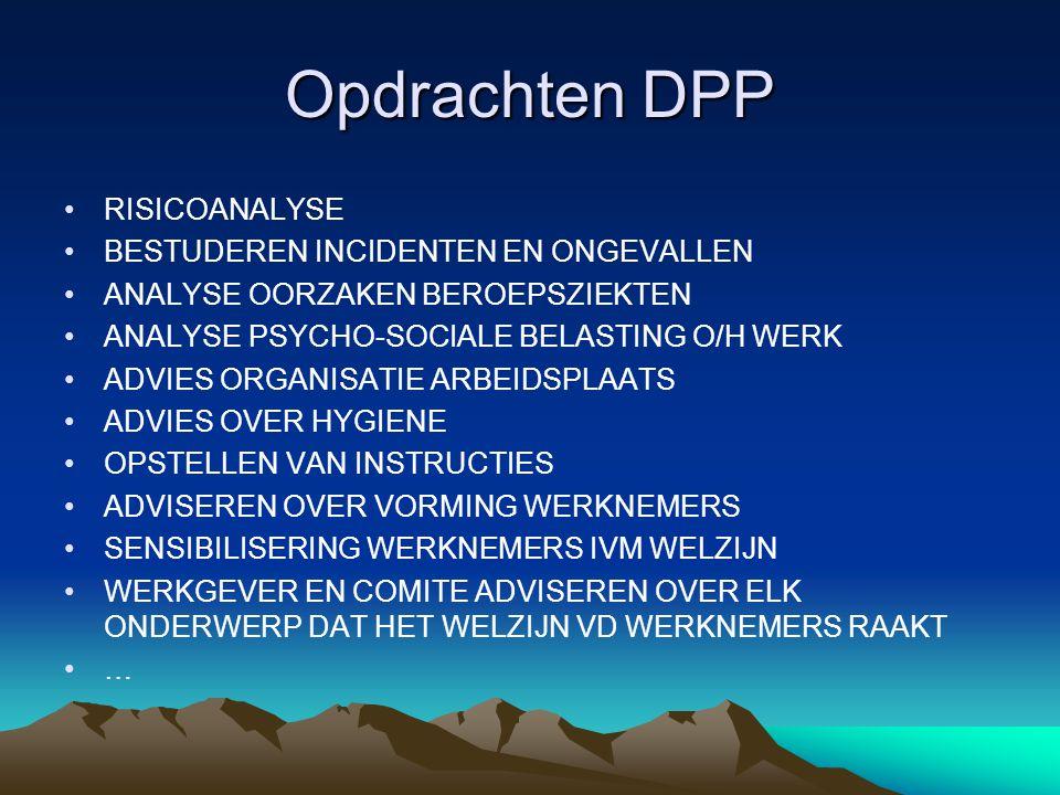 Opdrachten DPP RISICOANALYSE BESTUDEREN INCIDENTEN EN ONGEVALLEN