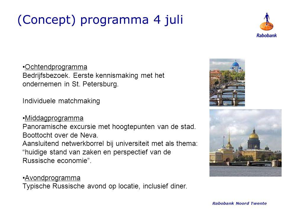 (Concept) programma 4 juli