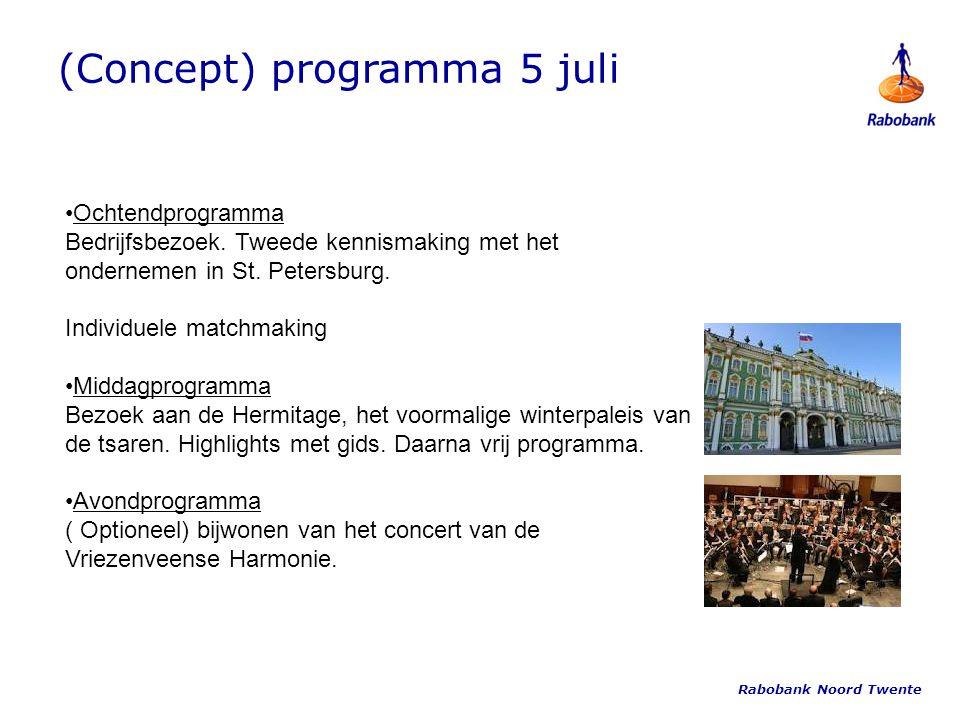 (Concept) programma 5 juli