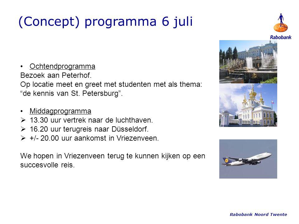 (Concept) programma 6 juli