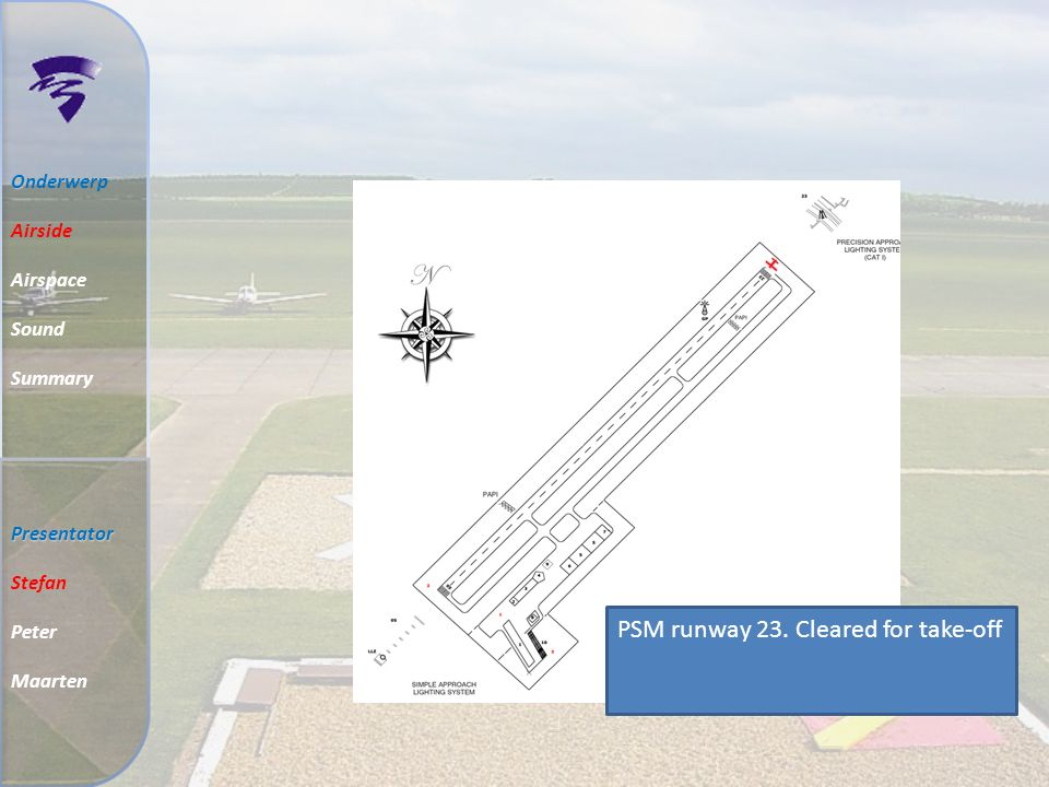 PSM runway 23. Cleared for take-off