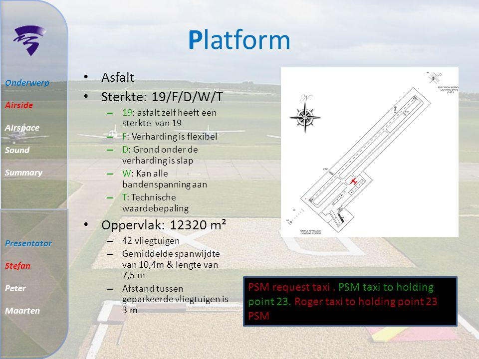 Platform Asfalt Sterkte: 19/F/D/W/T Oppervlak: 12320 m²