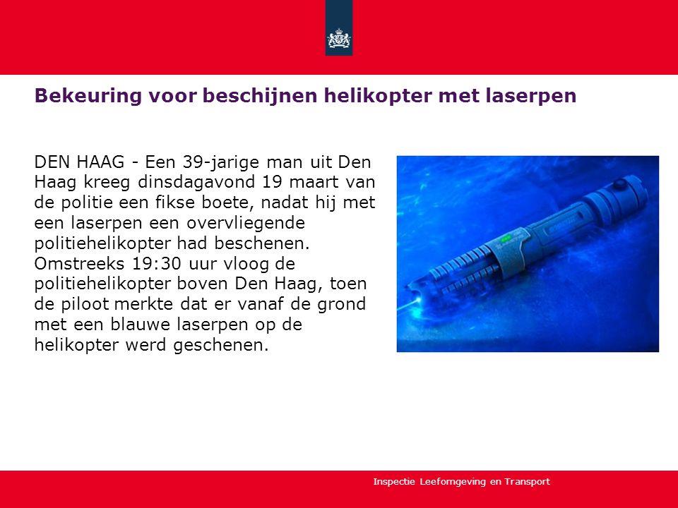 Bekeuring voor beschijnen helikopter met laserpen
