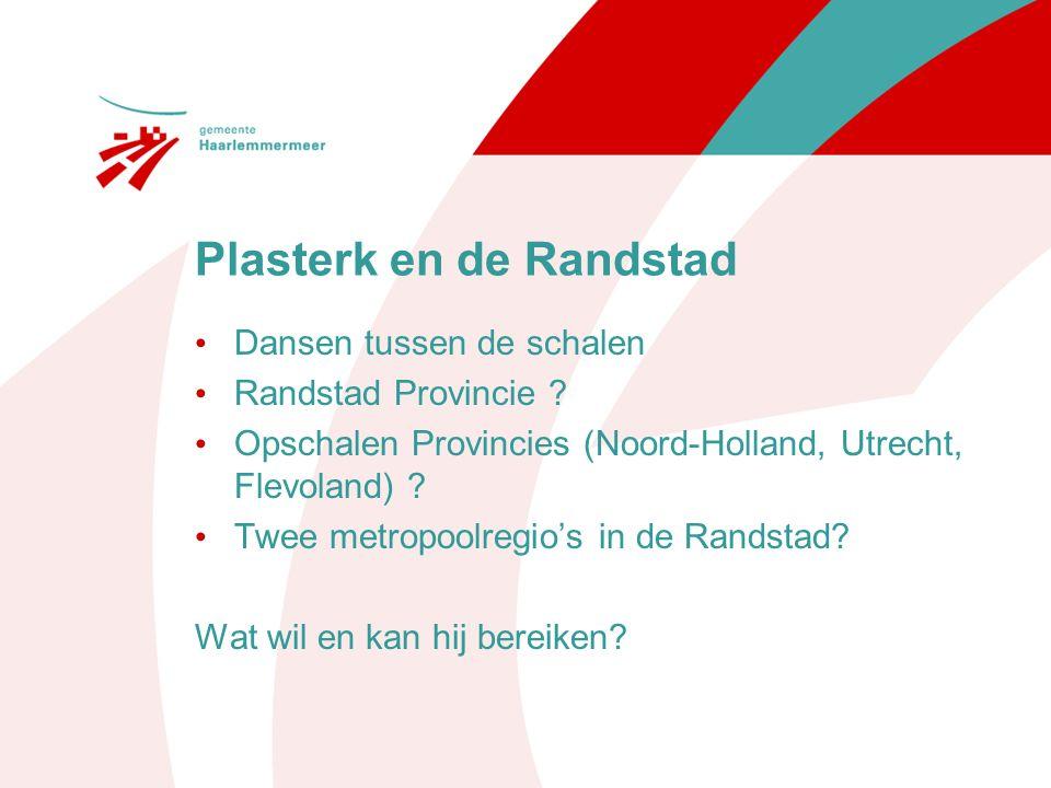 Plasterk en de Randstad