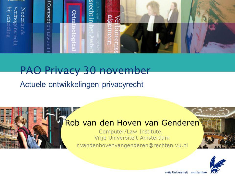 Actuele ontwikkelingen privacyrecht
