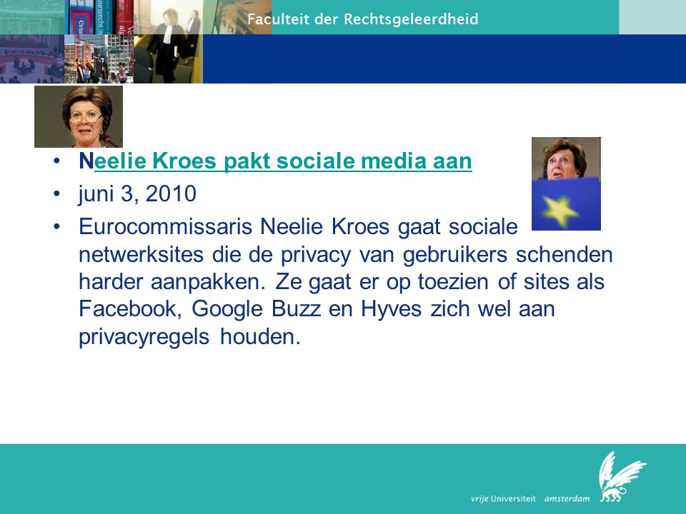 Neelie Kroes pakt sociale media aan