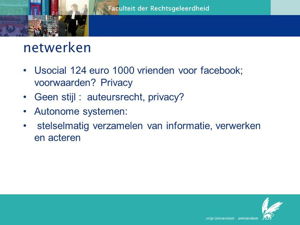 netwerken Usocial 124 euro 1000 vrienden voor facebook; voorwaarden Privacy. Geen stijl : auteursrecht, privacy