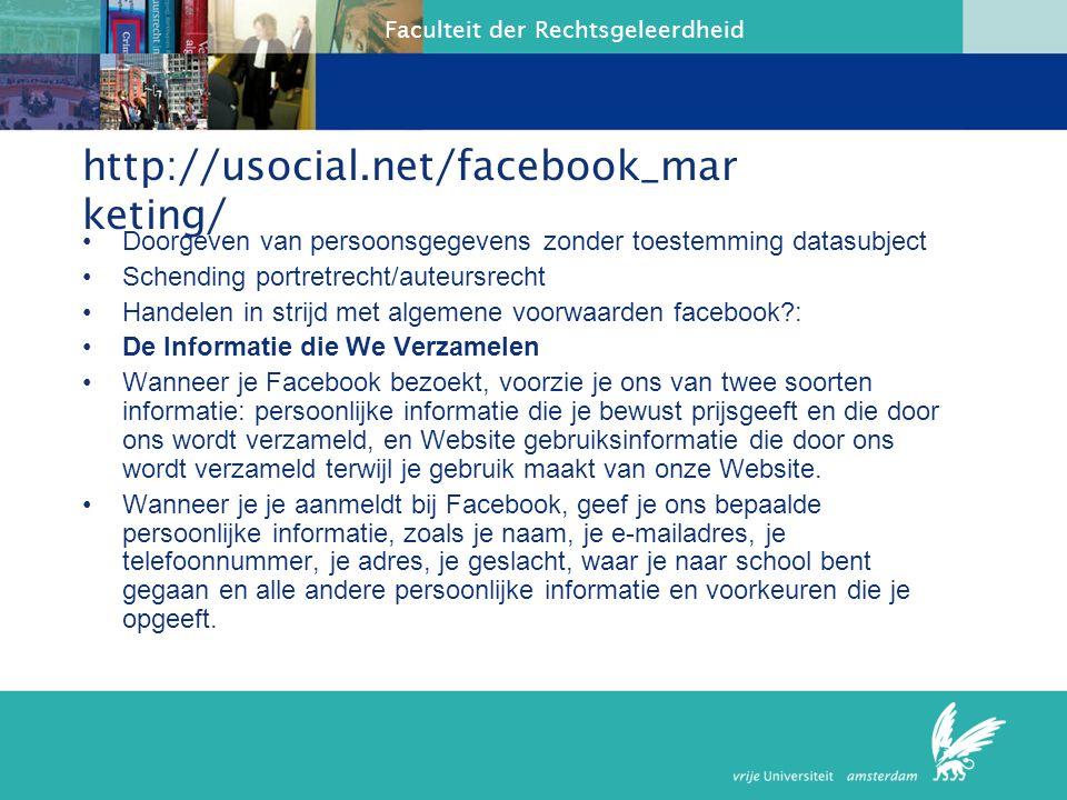 http://usocial.net/facebook_marketing/ Doorgeven van persoonsgegevens zonder toestemming datasubject.