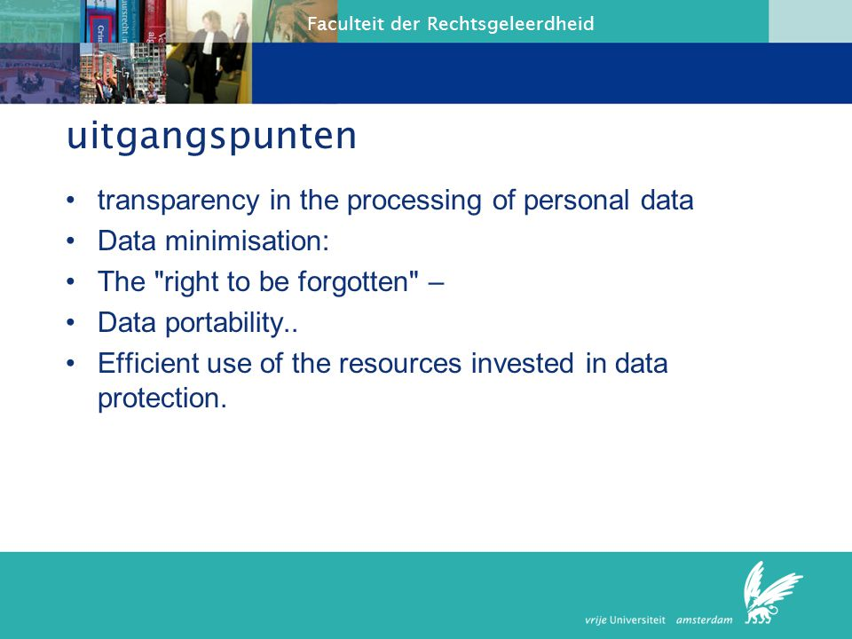 uitgangspunten transparency in the processing of personal data