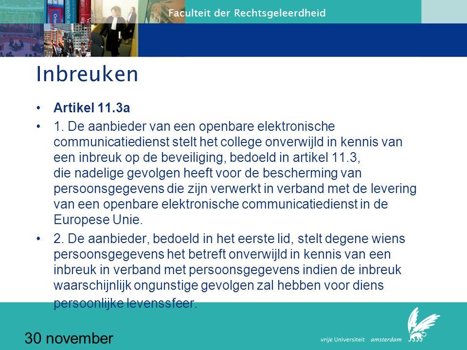 Inbreuken 30 november 2010 Artikel 11.3a