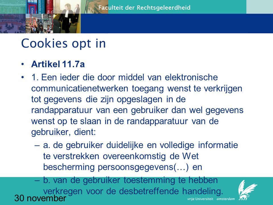 Cookies opt in Artikel 11.7a
