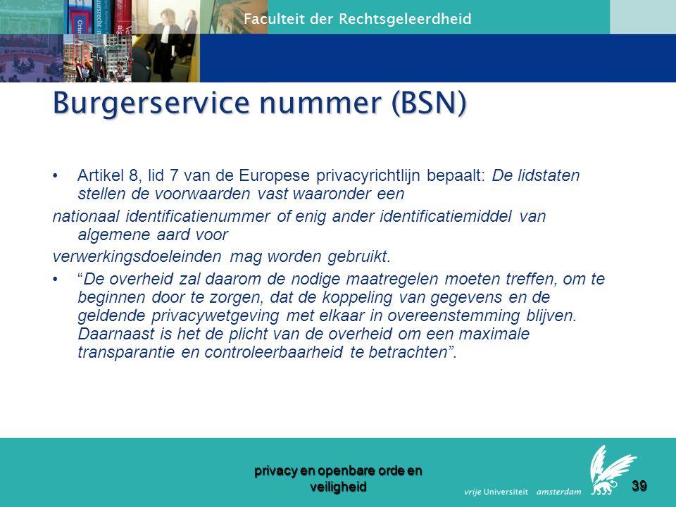 Burgerservice nummer (BSN)
