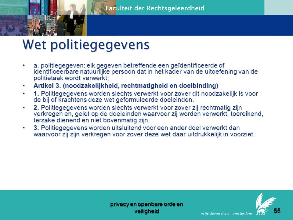 privacy en openbare orde en veiligheid