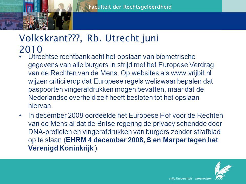 Volkskrant , Rb. Utrecht juni 2010