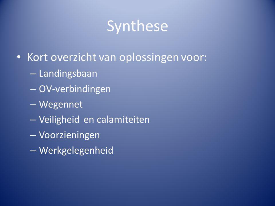 Synthese Kort overzicht van oplossingen voor: Landingsbaan